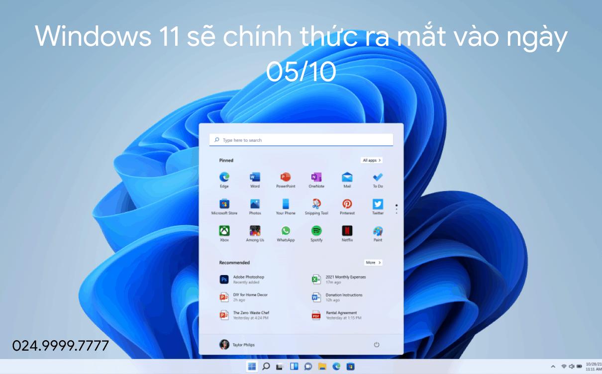 windows 11 ra mat ngay 051021