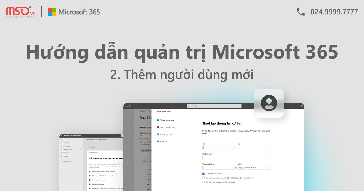 Thêm người dùng microsoft 365