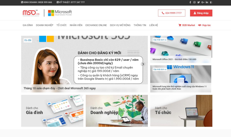 MSO.VN - Đối tác Microsoft hàng đầu tại Việt Nam